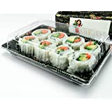 Katgely # 10 Sushi Trays with Lids (Pack of 50)