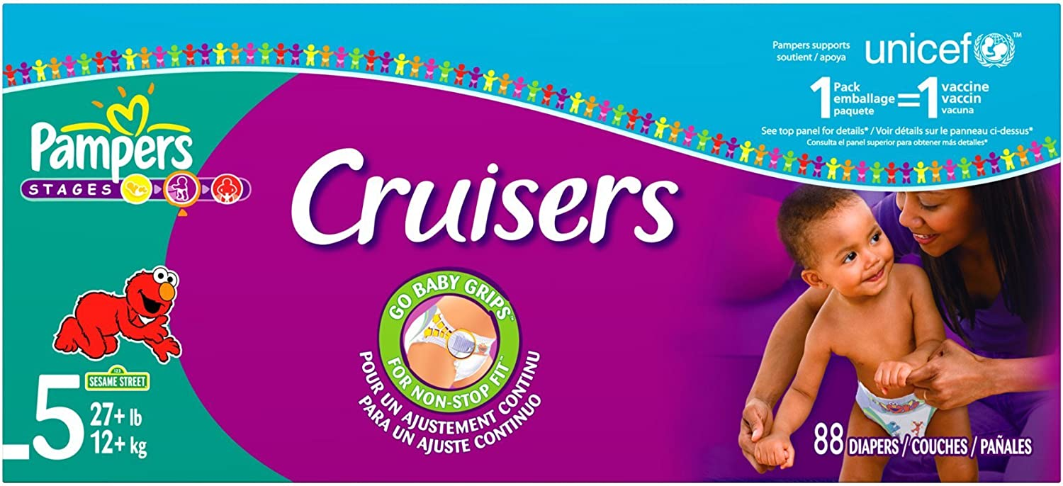 San Diego Mesa Mall Mall Pampers Cruisers Diapers 88-Count 5 Size