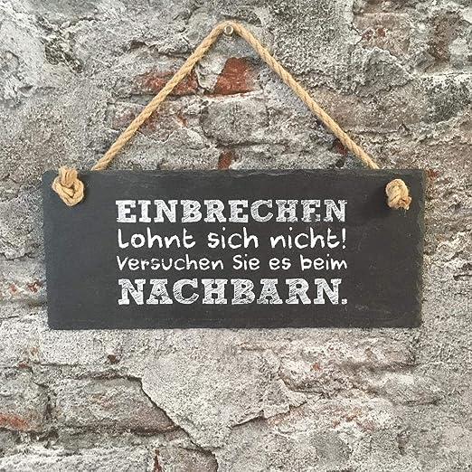 Gilde Pizarra Pizarra Cartel con Texto en alemán Einbrechen ...