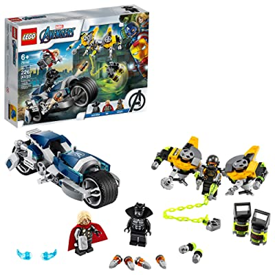 LEGO Marvel Avengers Speeder Bike Attack 76142 Black Panther and Thor Buildable Superhero Toy, Great Gift for Kids, New 2020 (226 Pieces): Toys & Games