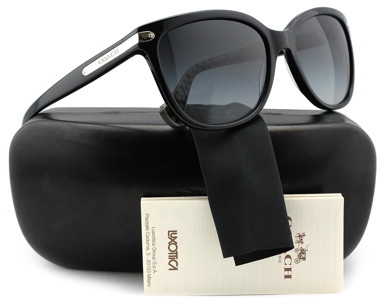 67a90e8cbe ... closeout coach hc8132 l109 sunglasses shiny black w grey gradient 5261  11 hc 8132 526111 57mm