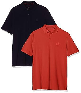 JP 1880 Poloshirt Piquee 1/2 DP Polo, Naranja (Orange 65), XXXX ...