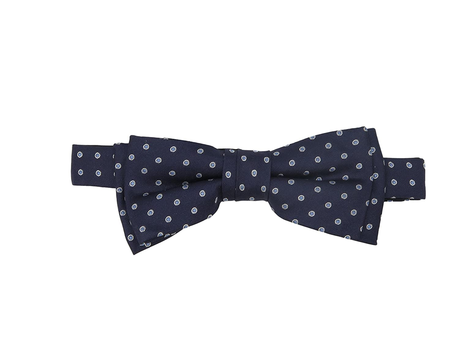 Hugo Boss Men's Blue Polka Dot Silk Bow Tie