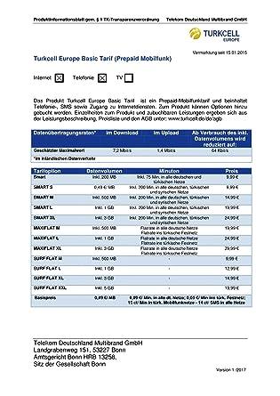D1 Karte Aufladen.Turkcell Prepaid Karte Mit Bis Zu 10 Euro Startguthaben