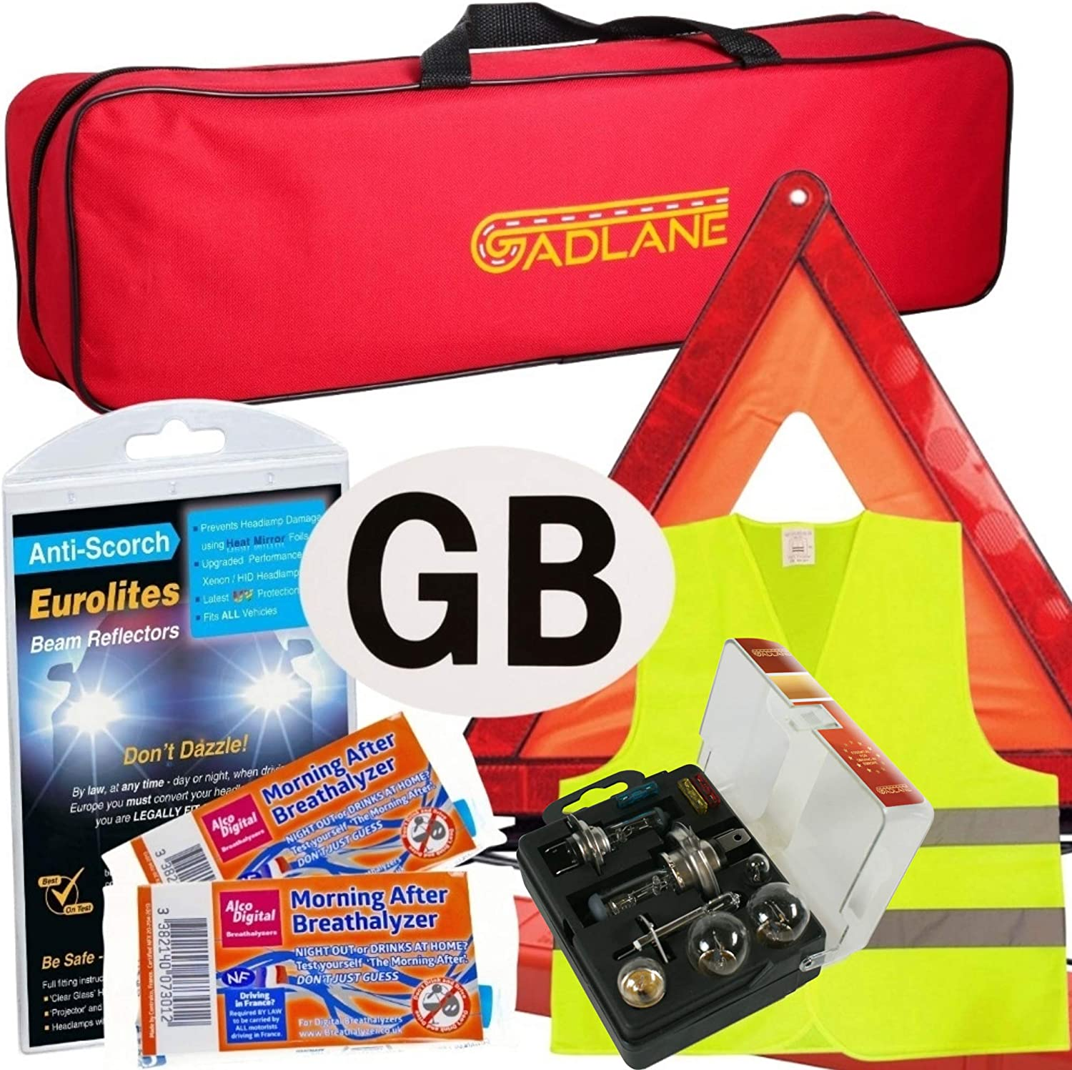 Kit For Driving Traveling to France With twin NF Approved Breath Alcohol Test Breathalyser Easy Storage Zipped Bag