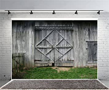 YEELE 10x8ft Vintage Door Gate Backdrop Western Home Decoration Photography Background Work Event Kids Adults Artistic Portrait Photoshoot Props Wallpaper