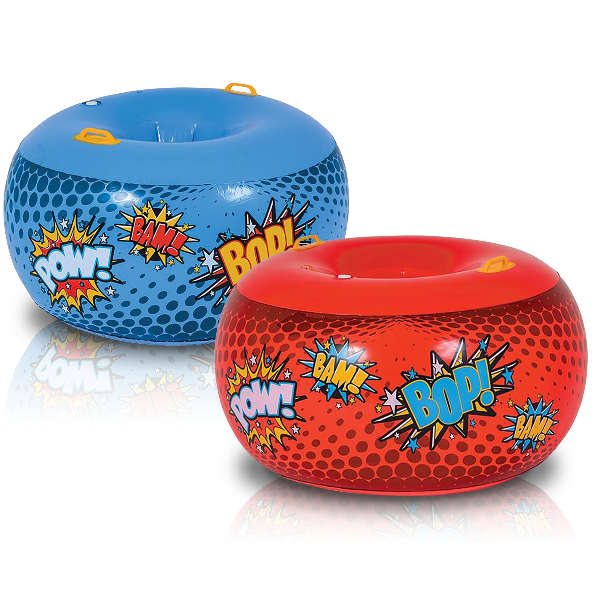 ArtCreativity Inflatable Body Bumper Set for Kids - Pack of 2 - Colorful Bump Ball Toys with Handles - Great Summer Game, Fun Birthday Party Activity, Gift Idea for Boys and Girls - Red and Blue