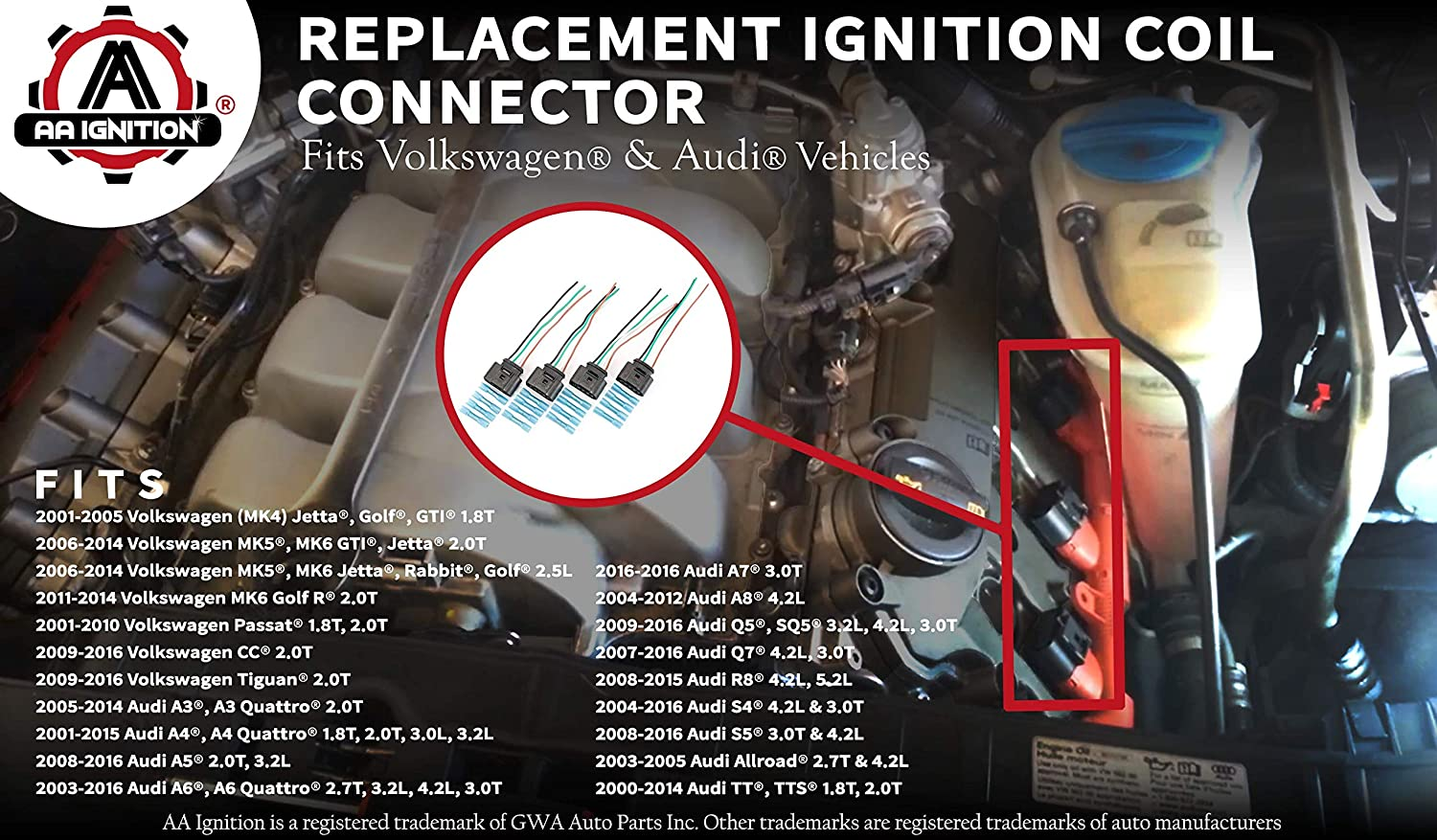 Amazon.com: Ignition Coil, Coil Pack Replacement Connector - Harness on 2006 hummer h2 wiring diagram, audi a4 radio wiring diagram, 2006 chrysler pt cruiser wiring diagram, 2006 gmc yukon wiring diagram, 2010 audi a5 wiring diagram, 2006 volvo xc90 wiring diagram, 2006 kia amanti wiring diagram, 2006 ford crown victoria wiring diagram, 2002 audi a4 wiring diagram, 2006 dodge viper wiring diagram, 2006 nissan quest wiring diagram, 2011 hyundai sonata wiring diagram, 2003 audi a4 wiring diagram, 2007 audi a4 wiring diagram, 2006 subaru tribeca wiring diagram, 2006 honda element wiring diagram, 2006 honda ridgeline wiring diagram, 2006 chrysler sebring wiring diagram, audi a4 stereo wiring diagram, 2006 hyundai tiburon wiring diagram,