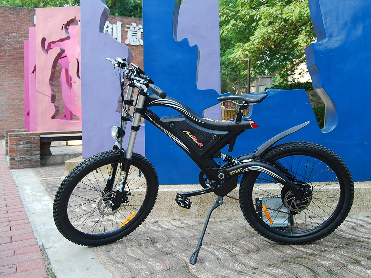 Addmotor HITHOT Electric Bicycle 500W 48V Dual Suspension Mountain Electric Bike