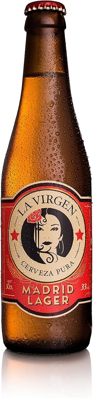 La Virgen Cerveza Artesana Madrid Lager - pack 24 botellas x 330 ml - Total: 7920 ml