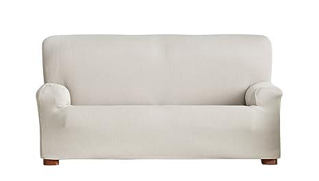Eysa Ulises - Funda de sofá elástica, 3 plazas, Color Crudo, tela