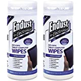 Endust for Electronics Screen cleaning wipes, Surface cleaning, Great LCD and Plasma wipes, 70 Count (11506)