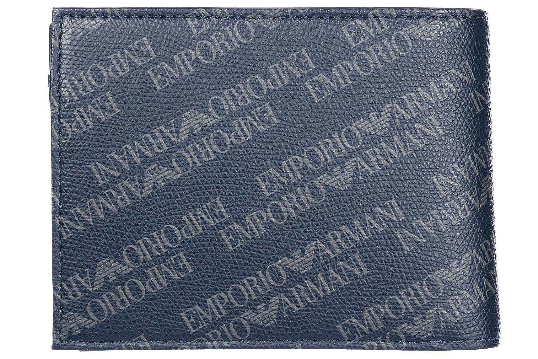 Emporio Armani monedero cartera bifold de hombre nuevo blu: Amazon.es: Zapatos y complementos