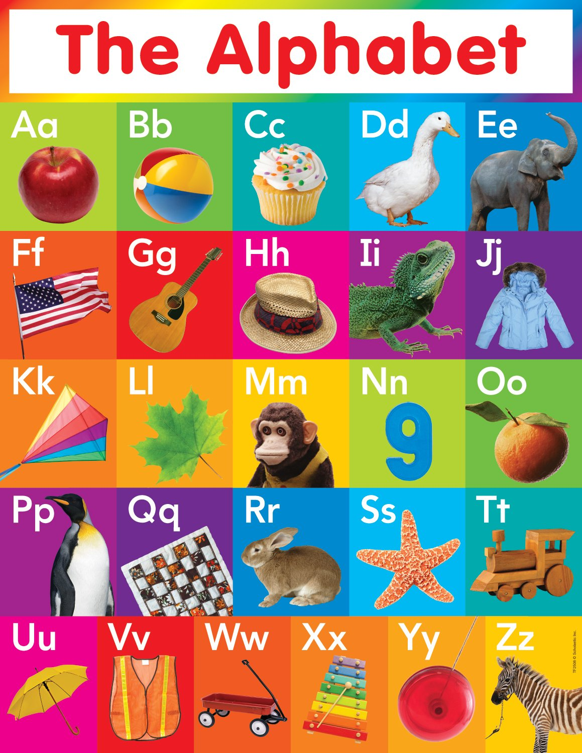 Worksheet Alphabet Charts For Kindergarten amazon com scholastic teachers friend alphabet chart multiple colors tf2506 themed classroom displays and decorati