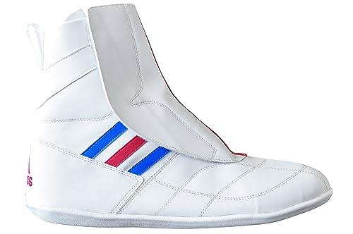 cheaper 0ac39 d81e7 adidas - Zapatillas de Boxeo para Hombre Blanco, Azul y Rojo  Amazon.es   Zapatos y complementos