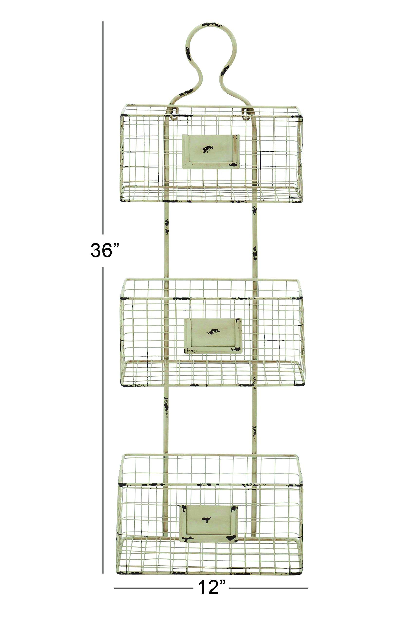 Deco 79 Metal Basket Shelf, 13 by 37-Inch by Deco 79 (Image #2)