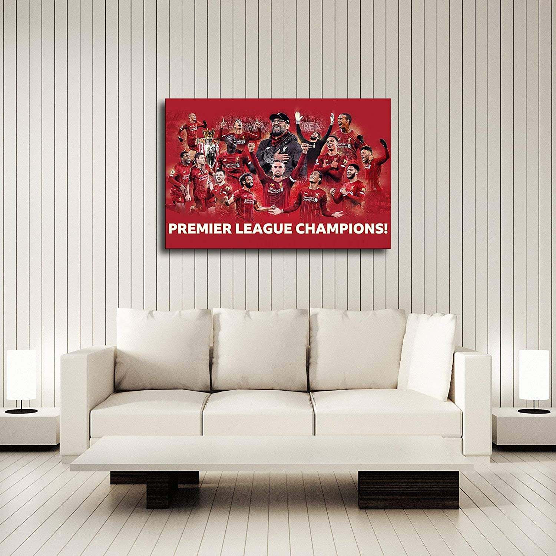 8x12inch,Framed Liverpool fc English Premier League Champion Football Posters Wall Decor Room Decor Living Room decorcanvas Wall Art
