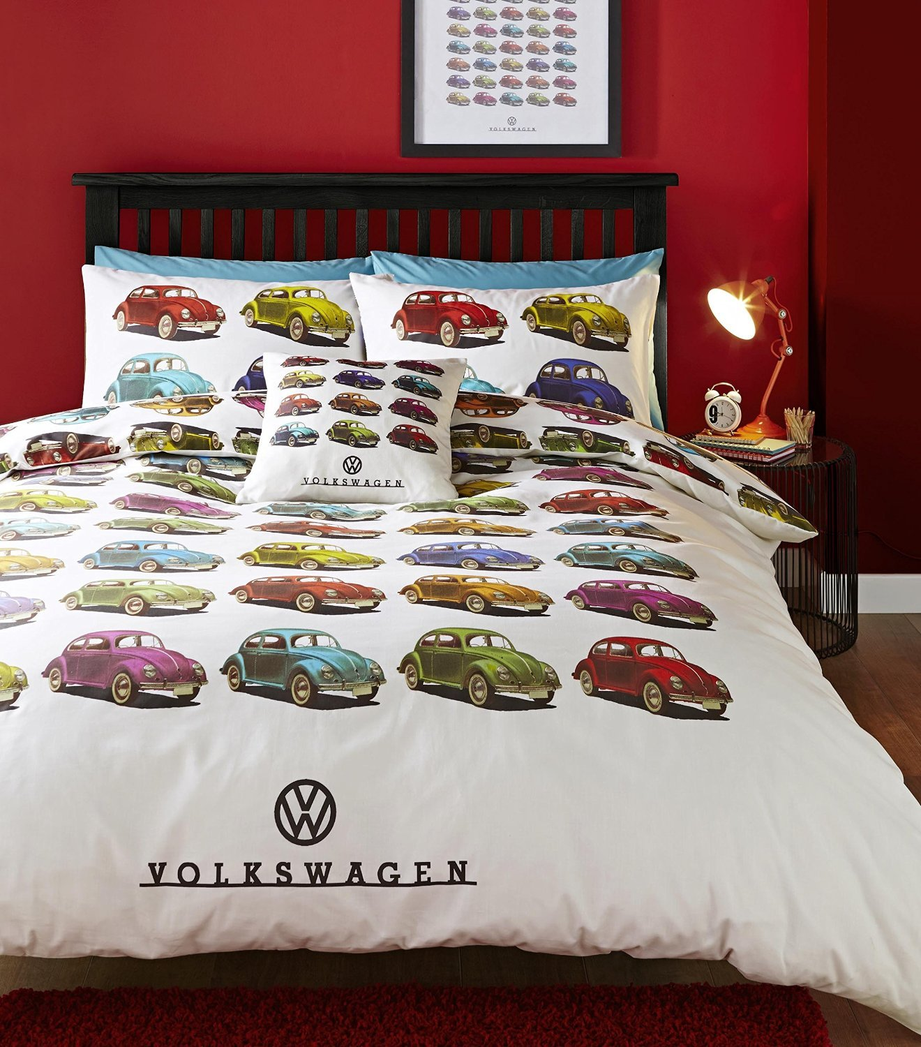 Volkswagen Beetle Car King Quilt Duvet Cover And 2 Pillowcase