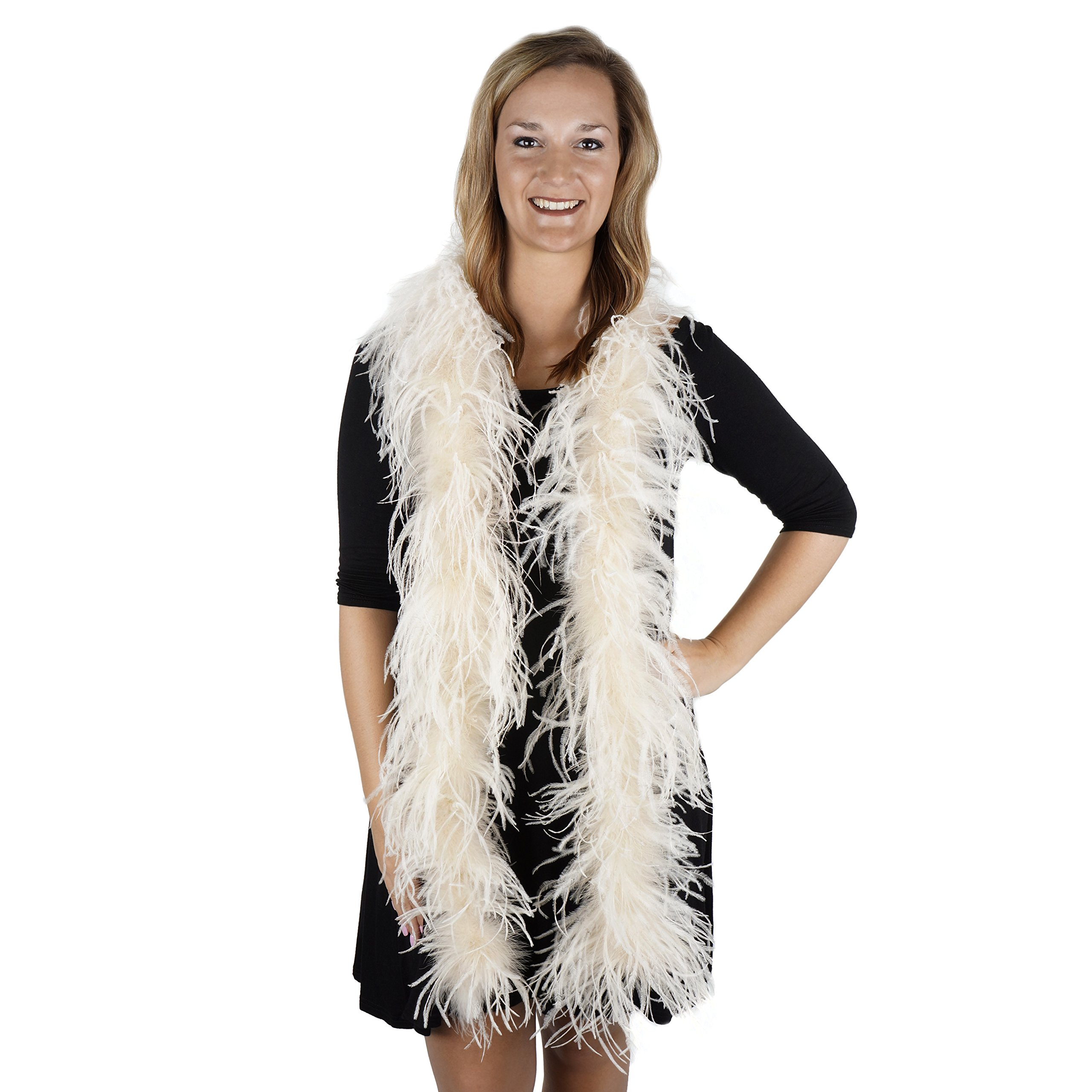 Zucker Feather (TM) - Ostrich Boas Solid Colors Ivory