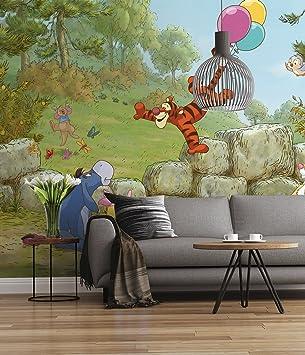 Sunny Decor - Disney - Fototapete Winnie Pooh Ballooning - 368 x 254 cm -  Tapete, Wand Dekoration, Winnie Puh - SD460, Bunt