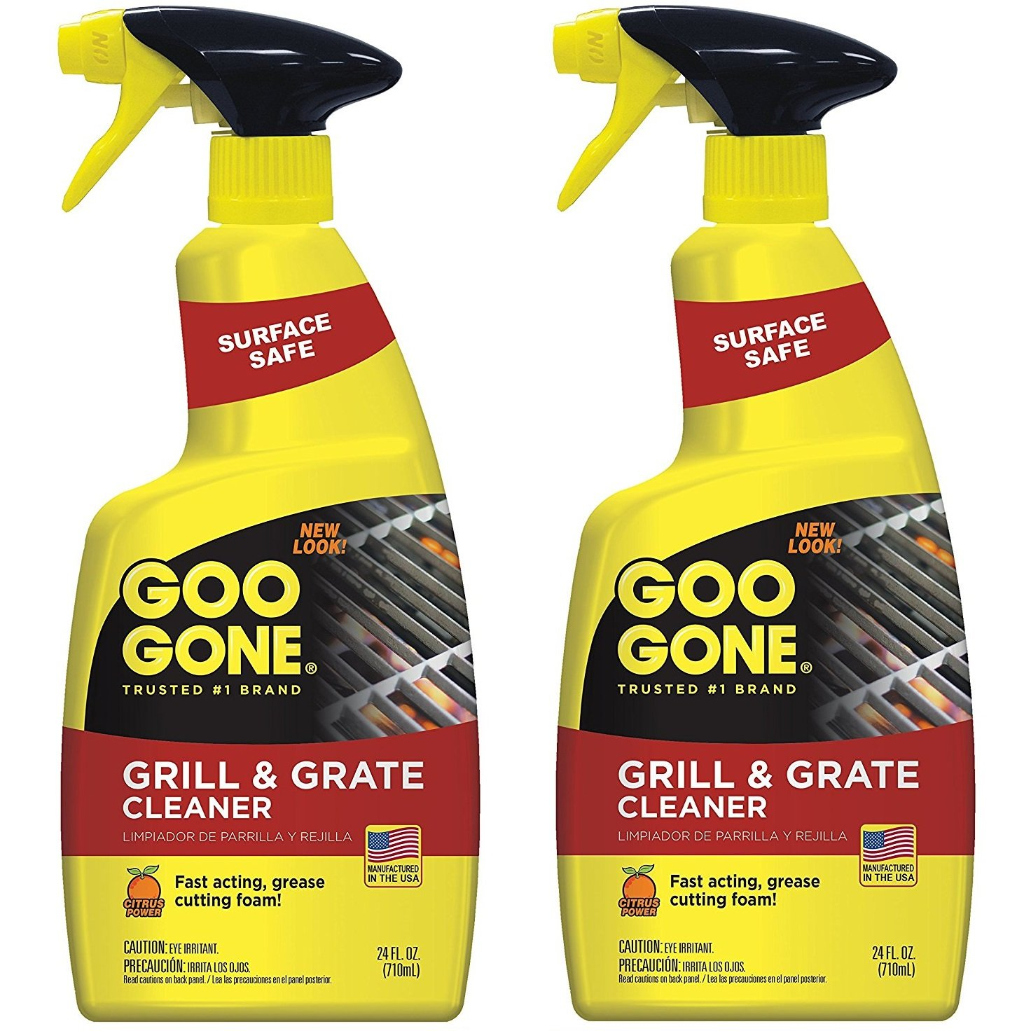 Goo Gone Grill and Grate Cleaner, 24 Ounce - 2 Pack (48 oz total) by Goo Gone