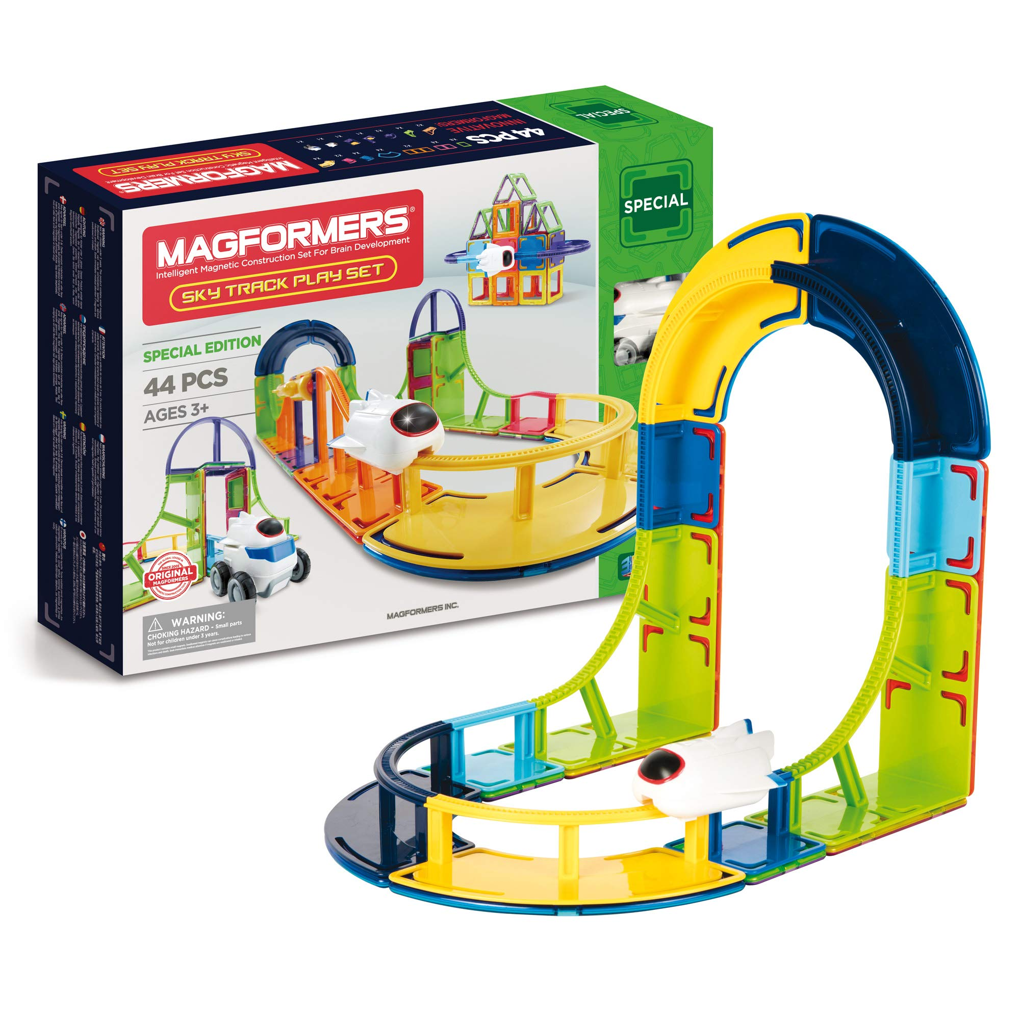 Magformers SkyTrack Play (44-Piece) Set