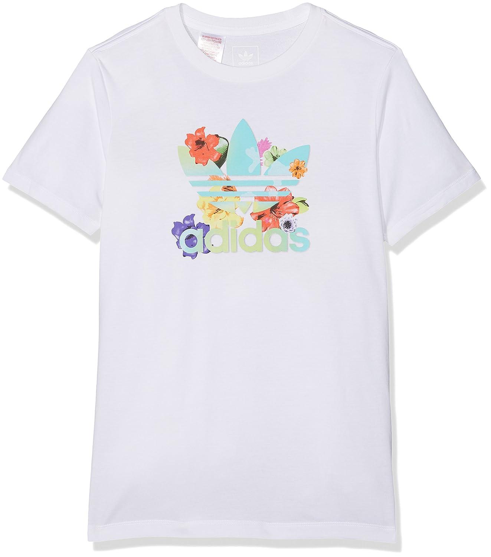 adidas Mädchen J Flwr Tee Shirt BK2035