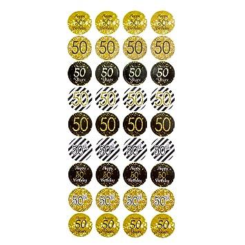 Oblique Unique 50 Geburtstag Jubilaum Goldene Hochzeit Sticker