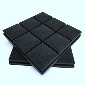 TOOGOO 4 pcs insonorizacion Foam Studio Acustica Sound Tratamiento Absorcion Wedge Tile 30 x 30 x 5cm: Amazon.es: Instrumentos musicales