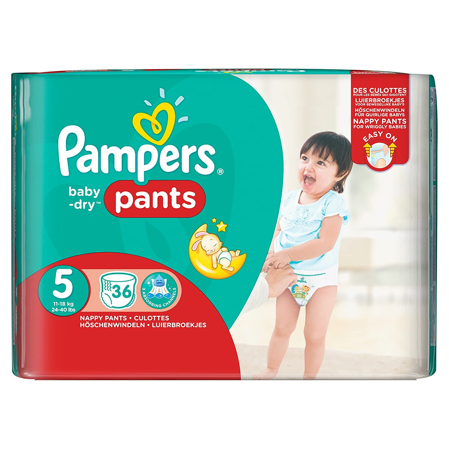Pampers Baby Dry Nappy Pants, Size 5, 11 - 18 kg 4015400841043