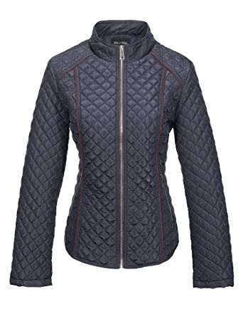 97c7fc95ef0 Image Unavailable. Image not available for. Color  Bellivera Women s Stand  Collar Lightweight Gilet Quilted Puffer Padded Zip Jacket ...