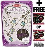 Press-a-Pendant Necklaces: Jewelry Made Easy Series + FREE Melissa & Doug Scratch Art Mini-Pad Bundle [94719]