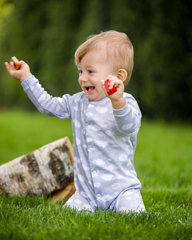 Taglie da 56-74 Pacco da 3 SIBINULO Bambino Bambina Pagliaccetto Pigiama Cotone