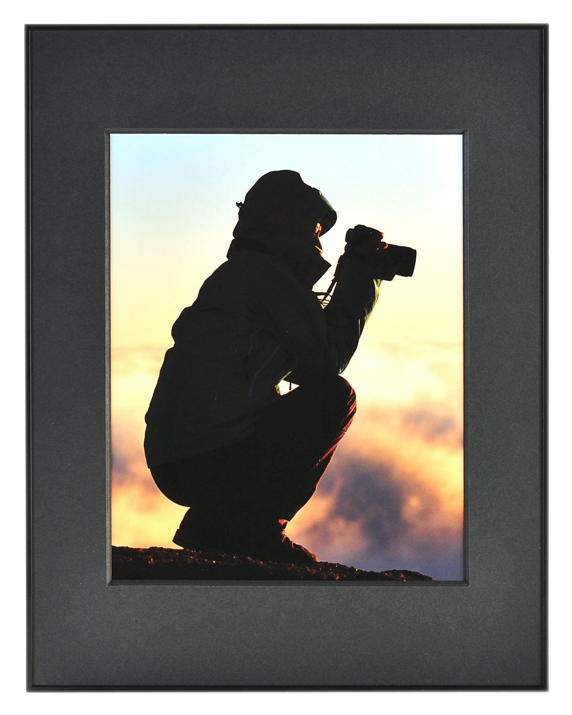 Nielsen Bainbridge Artcare By 11x14 Black Archival Photography Collection Frame With Black Mat For 8x10 Image #RPH1321FB. Includes: UV Glazed Glass and Anti Aging Liner