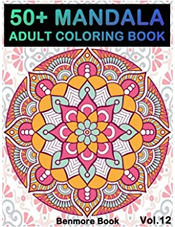 50 Mandala Adult Coloring Book Images Stress Management For Relaxation