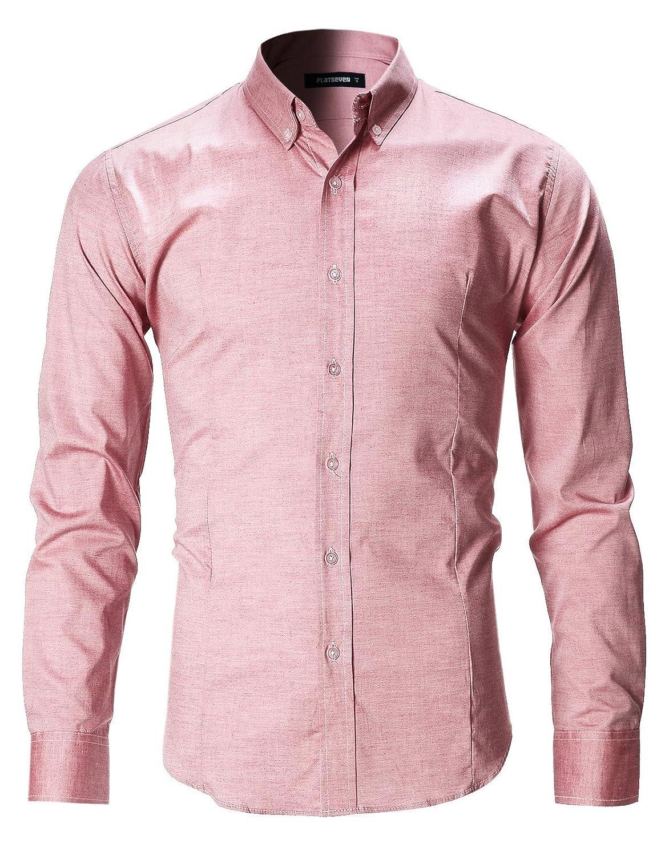 FLATSEVEN Camicia Uomo Casual Con Bottoni