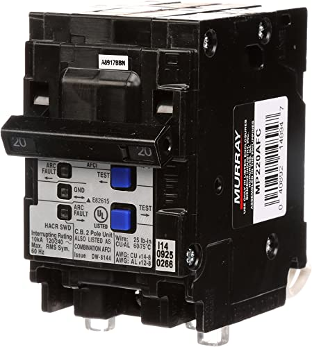 Murray MP220AFC 20-Amp 2 Pole 120-Volt Combination Type Arc Fault Circuit Interrupter
