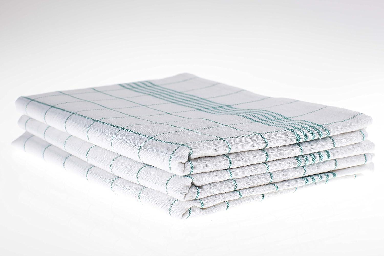 200g m² AN Geschirrtücher 100 /% Baumwolle 50 Stück Grubentücher 45 x 90 cm