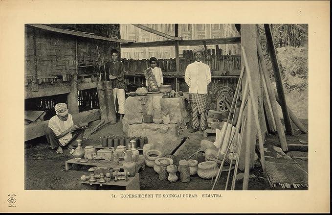 : Sumatran Brass Foundry Workers scarce ca. 1912