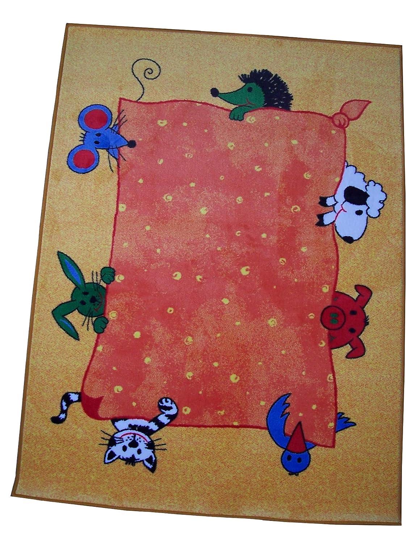 W. Eulberg Kollektion carpet for kids Kinderteppich Tiere gelb 200 x 300 cm