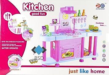 Große Kinderküche Just Like Home   Moderne Küche Mit Licht, Ton, Backofen,  Töpfe