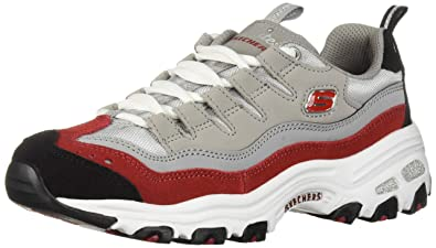 33d64a1d7ef0 Skechers Women s D Lites-Sure Thing Sneaker Grey red ...