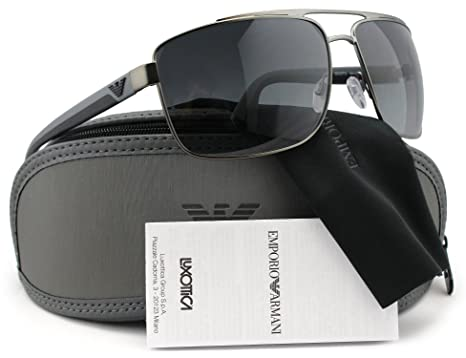 923ee1a9e1 Image Unavailable. Image not available for. Color  Emporio Armani EA2018  Polarized Sunglasses Matte ...