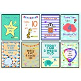 Baby Milestone Cards - Set of 30 Baby Boy or Girl Gender Neutral Unisex Photo Prop Signs Posters - Perfect baby shower, christmas present or christening or pregnancy gift