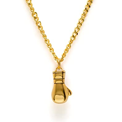 Gold boxing gloves necklace boxing pendant fitness gym jewelry