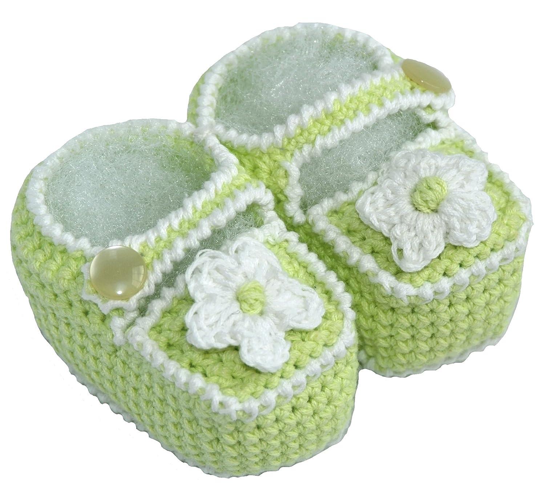 c3dfdfc7c0edc Amazon.com: Crochet Baby Sandals, Size: 0-3 M, Color: Green: Infant ...