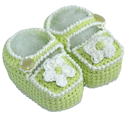 Amazon Crochet Baby Sandals Size 0 3 M Color Green Infant