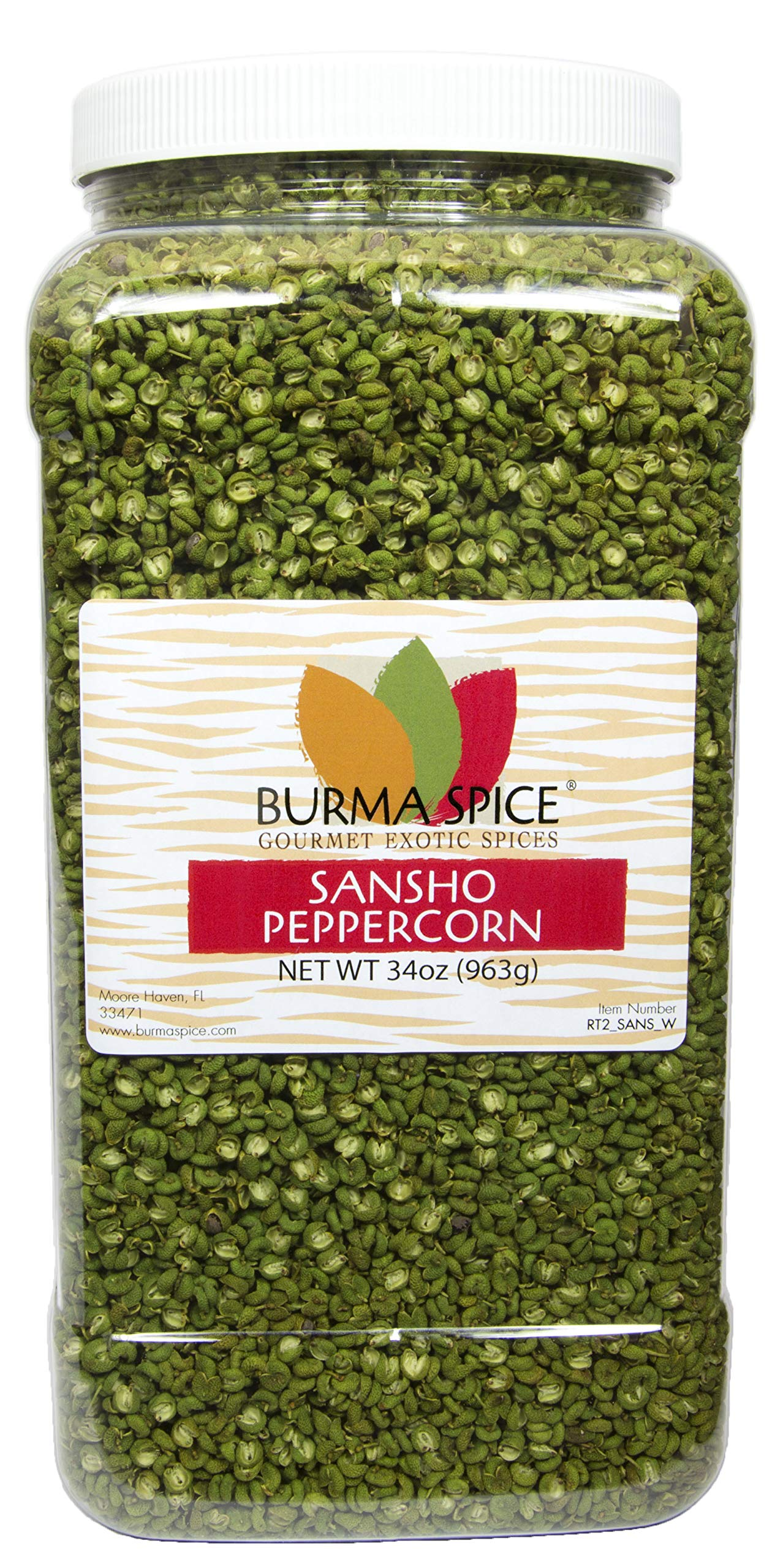 Sansho : Peppercorn : Japanese Prickly Ash, Asian, Chinese Cuisine : Citrus Herb Zing (34oz.)