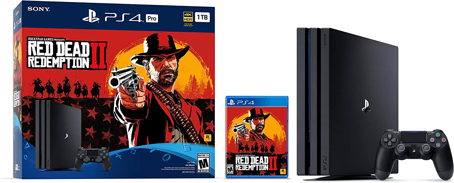 PlayStation 4 Pro 1TB Console - Red Dead Redemption 2 Bundle: Sony: Amazon.es: Videojuegos