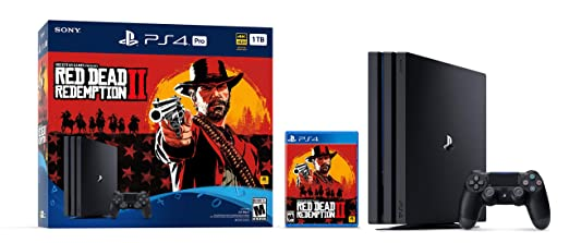 Amazon Com Playstation 4 Pro 1tb Console Red Dead Redemption 2 Bundle Discontinued Sony Video Games